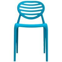 Cadeira I´m In Home sem Braço Stripê em Polipropileno Azul
