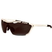 Óculos Record Armação Branca Brilhante Lente Prata Espelhada Unissex Eassun