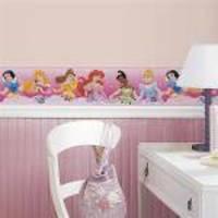 Adesivo De Parede Disney Princess - Dream From The Heart Pink Peel  Stick Border Roommates