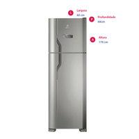 Refrigerador Electrolux Frost Free DFX41 371 Litros Inox 220V