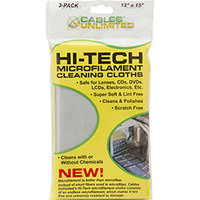 Kit com 3 Toalhasde Limpeza Cables Unlimited em Microfilamento