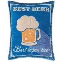 Almofada Retangular Beer 01 - Azul Marinho