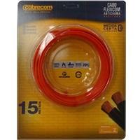 CABO DE ENERGIA 750V 4MM² FLEXICOM COM 15 METROS VERMELHO 565208 Cobrecom