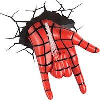 Luminária de Parede Mão Homem Aranha 3D Light FX