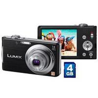 Câmera Digital Panasonic DMC-FH2LB-K 14.1MP Preta