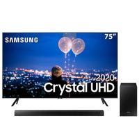 Smart TV LED 75 UHD 4K Samsung 75TU8000 + Soundbar Samsung HW-T550 com 2.1 canais - 320W