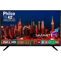 Smart TV LED 42'' Philco PH42F10DSGWA Android Wi fi Preta