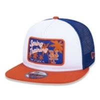 Bone 9fifty Trucker Mlb New York Mets Spring Training Aba Reta Branco/azul New Era