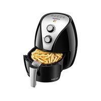 Fritadeira Elétrica Air Fryer Sem Óleo Mondial Pratic AF-20 2,4 Litros Preta e Prata