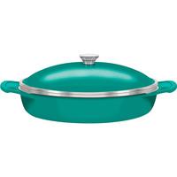 Frigideira Tramontina Design Collection Lyon com Indução Siliconada 32cm Verde Esmeralda