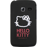 Capa para Celular Case Mix Galaxy Y Duos Hello Kitty Cristais Policarbonato Preta
