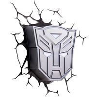 Luminária de Parede 3D Light FX Escudo Autobots Prata