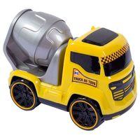 Caminhão Truck Betoneira BS Toys Amarelo