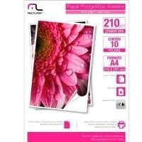 Papel Fotográfico Multilaser Adesivo 210g m2 A4 10 Folhas Pe007