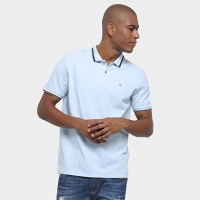 Camisa Polo Calvin Klein Regular Listra 3D Masculina - Masculino