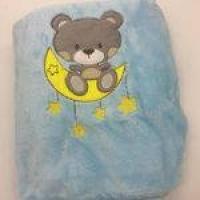 Manta Soft Microfibra Cmxm Urso E Lua - Baby Joy Ref