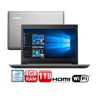 Notebook Lenovo Ideapad 320 Intel Core i3-6006U 4GB 1TB 2.0 GHz Windows 10 Prata