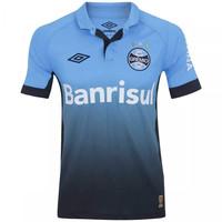 Camiseta Time Nac Umbro Gremio Iii 15 Masculina Azul Claro e Preta ... 06fe6411c8fe7