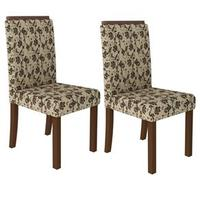 Kit 2 Cadeiras 4157 Madesa Crema e Jamy