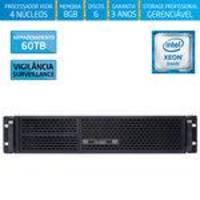 Servidor-storage Silix X1200r V6 Intel Xeon E3 V6 3.0 Ghz / 8gb / 60tb Vigilância / Raid / Rack 2u