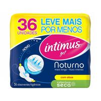 Absorvente Intimus Gel Noturno com Abas 36 Unidades