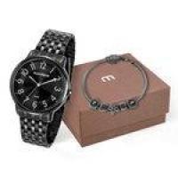 Kit Relógio Mondaine Feminino E Pulseira Com Berloques 53673lpmvpe1k