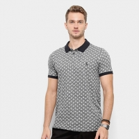 Camisa Polo Reserva Regular Jacquard Coqueiro Masculina - Masculino