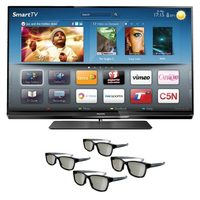 TV LED 3D 55 Full HD Philips 55PFL7007G/78 Smart TV + 4 Óculos 3D