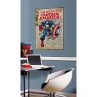 Adesivo De Parede Captain America Comic Cover Giant Wall Decal Roommates
