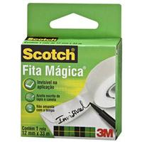 Fita Mágica 3M Scotch 12mm x 33m Branca