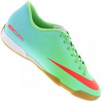 Chuteira de Futsal Nike Mercurial Vortex Ic Masculino Verde Claro e Azul  Claro 74207a10ca7da