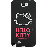 Capa para Celular Case Mix Galaxy Note 2 Hello Kitty Cristais Policarbonato Preta