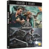DVD - Coleção Jurassic World: Reino Ameaçado + Jurassic World O Mundo Dos Dinossauros