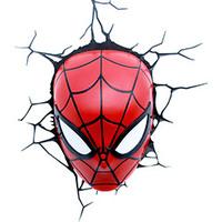 Luminária de Parede 3D Light FX Máscara Homem Aranha Vermelho