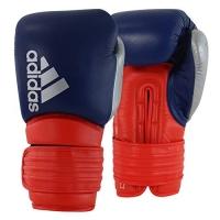 Luva de Boxe Adidas Hybrid 300 - Azul e Vermelho - Couro-14oz