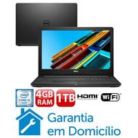 "Notebook Dell Inspiron I15-3567-D10P Intel Core i3-6006U 4GB 1TB 2GHz 15.6"" Linux Preto"