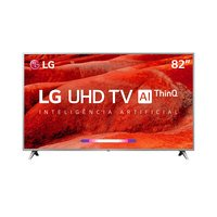 Smart TV LED 82 LG 4K 82UM7570PSB Conversor Digital