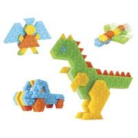Bloco de Montar Infantil Roma Brinquedos Colorido 168 Peças