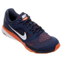 796e74178f Tênis Nike Tri Fusion Run MSL Masculino Azul Marinho e Laranja