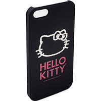 Capa IPhone 5 Case Mix Hello Kitty Cristais Policarbonato Preta