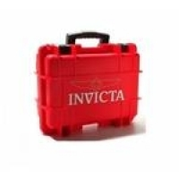 Caixa Invicta Para 3 Relógios Vermelha