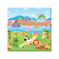 Tapete Infantil Play Mat The Sport Animals Dupla Face 1 Peça Colorido 17x17cm