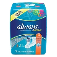 Absorvente Always Active Com Abas Leve 16 Pague 14