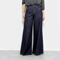 Calça Jeans Colcci Pantalona Feminina