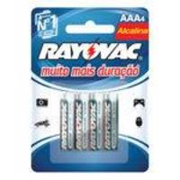 Pilha Alcalina Rayovac LR03 AAA palito 1,5v com 04