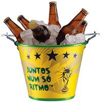 Balde Alumiart Copa do Mundo Alumínio Amarelo