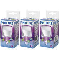 Kit 3 Lâmpadas Led Philips Bulbo 9W E27 Branca 6500K Bivolt