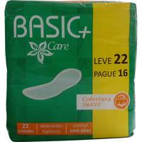 Absorvente Basic + Care Malha Suave sem Abas 22 Unidades