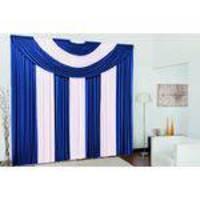 Cortina Suplema 3.00x2.60m Malha Gel - Azul Royal/branco