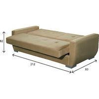 Sofa-Cama Pelmex Amsterdã Suede Bege 3 Lugares Bege